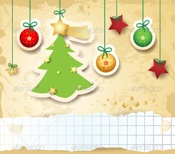 GraphicRiver Christmas Card with Copyspace 3521009