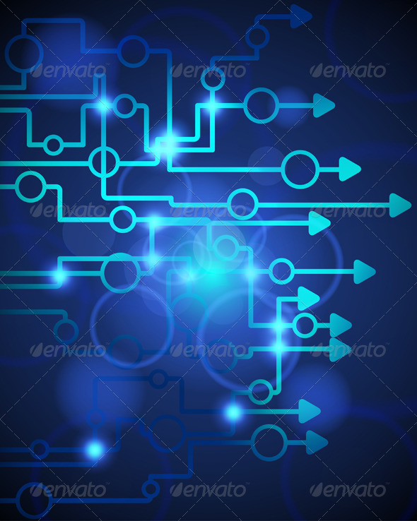 GraphicRiver Technological Blue Background 3539238