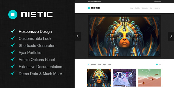 ThemeForest Nistic Responsive WordPress Theme 3522798
