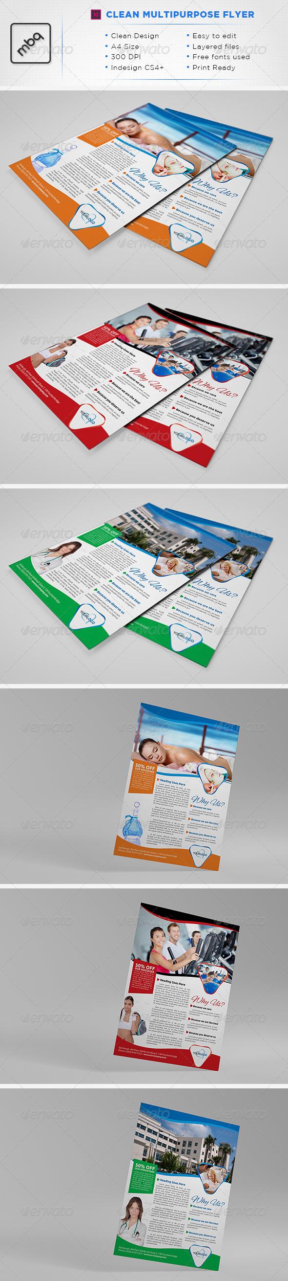 GraphicRiver Multipurpose A4 Flyer 3539362