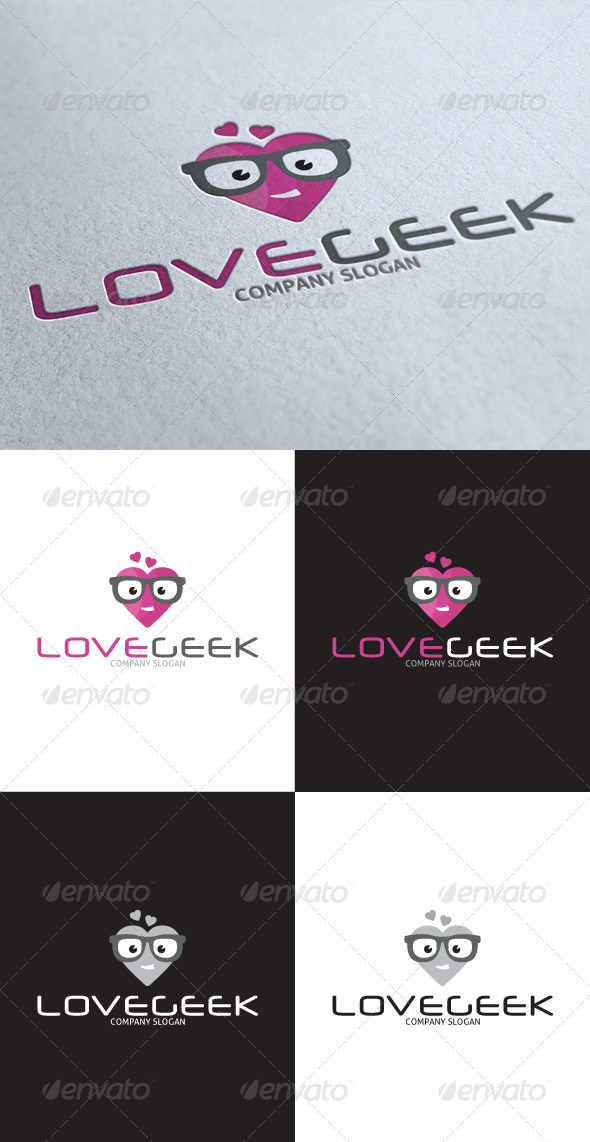 GraphicRiver Love Geek Logo 3539480