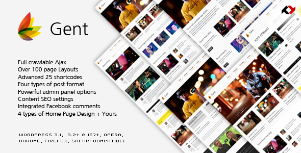 ThemeForest Gent Premium & Ajax WP Theme for Creative 642150