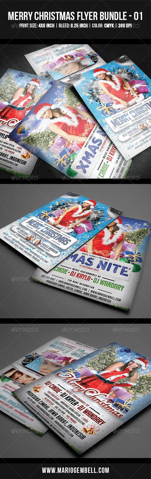GraphicRiver Merry Christmas Flyer Bundle 01 3539833