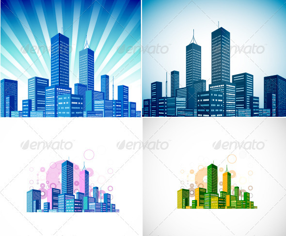 GraphicRiver Vector Skyline Background 3540197