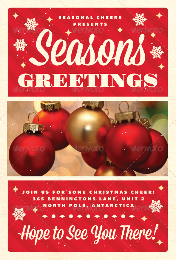 Greetings - Christmas Flyer Template - Holidays Events