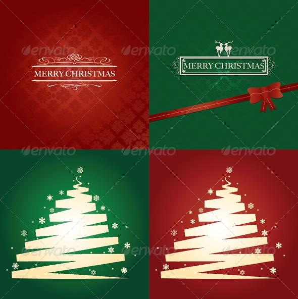 GraphicRiver Christmas Card Set 3520218