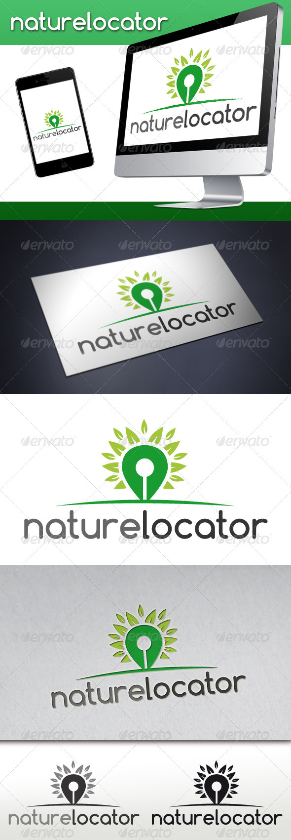 GraphicRiver Nature Locator Logo 3533977