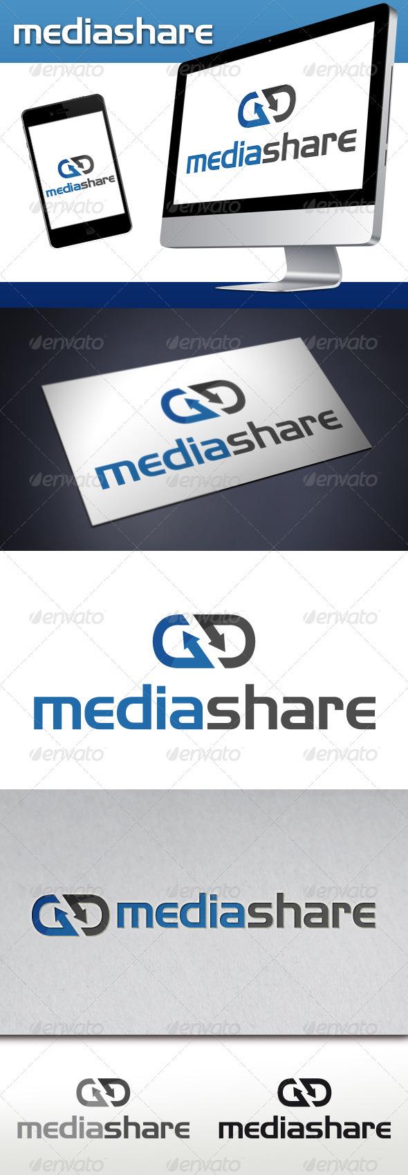 GraphicRiver Media Share Hosting Logo 3535762