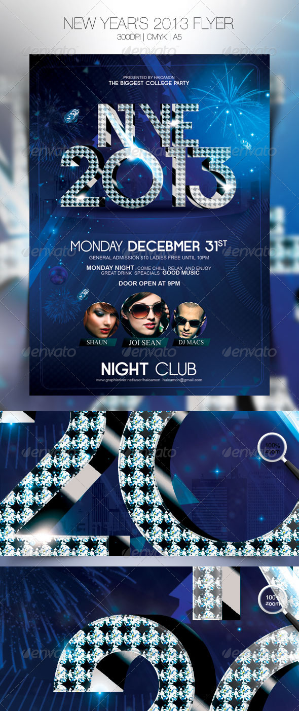 GraphicRiver New Year s 2013 Flyer 3540743