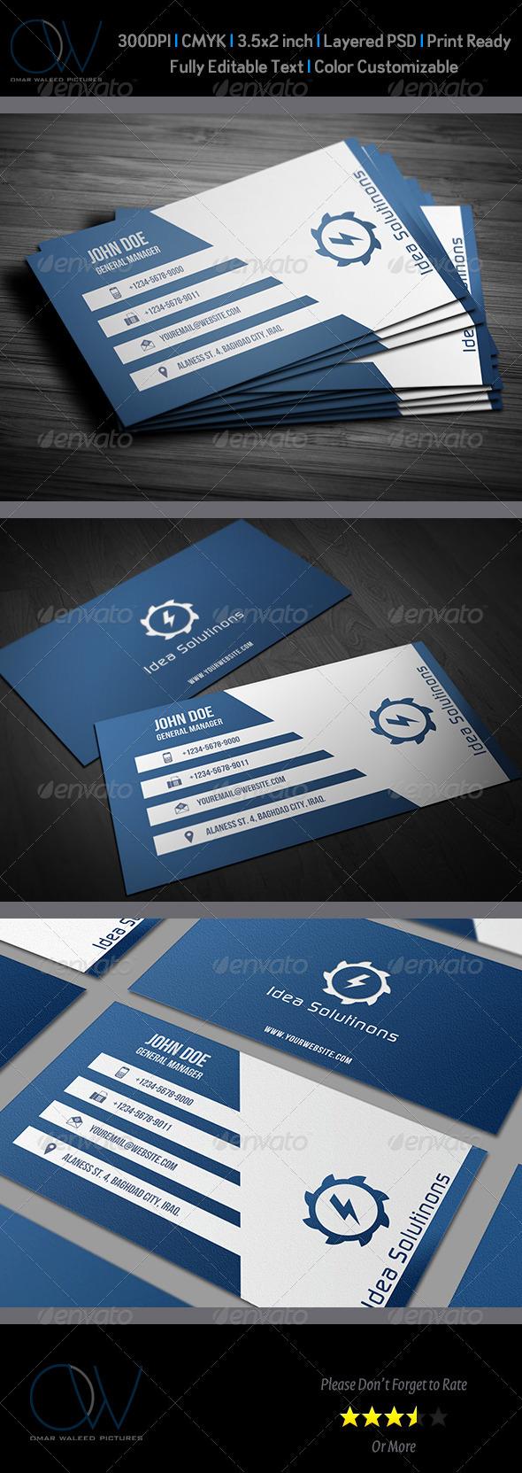 GraphicRiver Corporate Business Card Vol.10 3540897