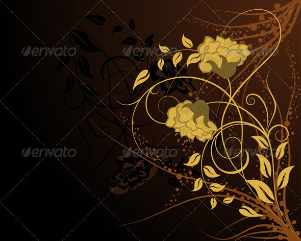GraphicRiver Floral Background 3540951
