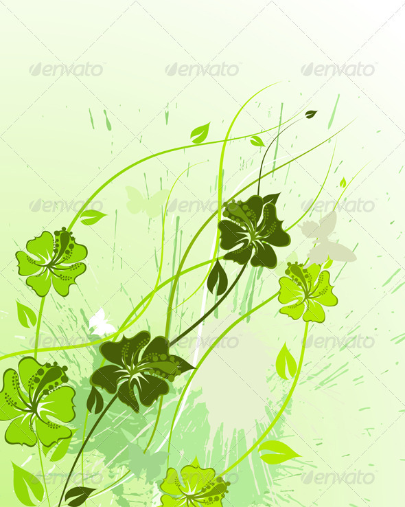 GraphicRiver Floral Background 3541093