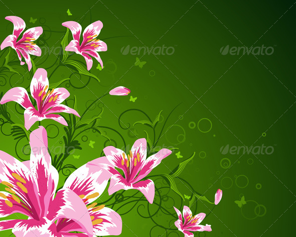 GraphicRiver Floral Background 3541122