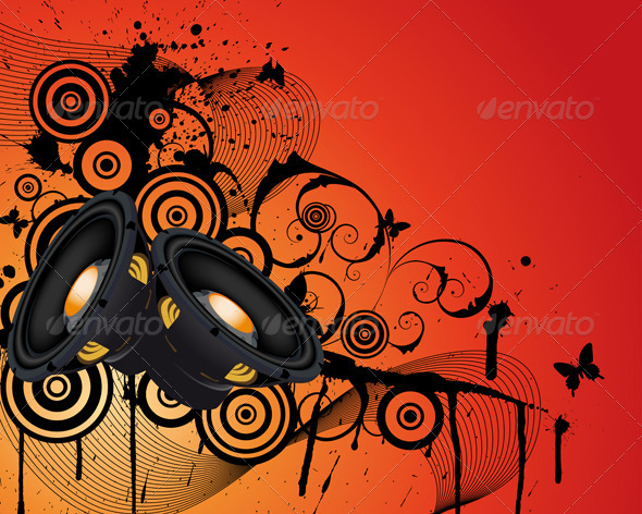 GraphicRiver Musical Background 3541196