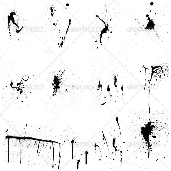 GraphicRiver Grunge Blob Set 3541275