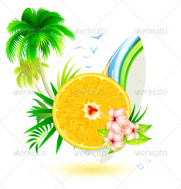 GraphicRiver Summer Concept 3541771