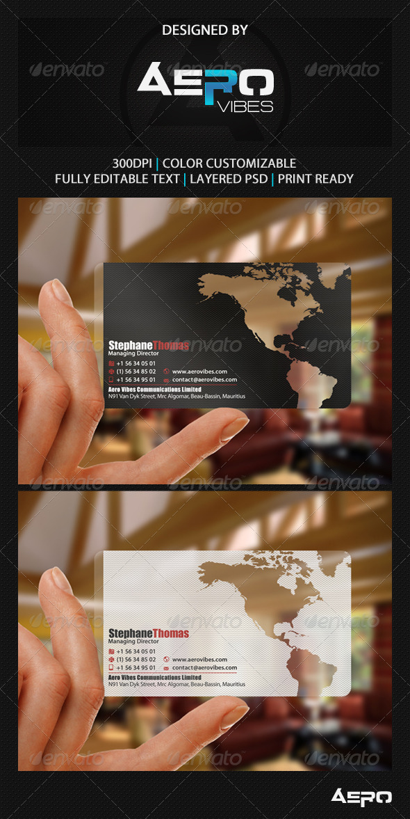 GraphicRiver Global Translucent Business Card 3542102
