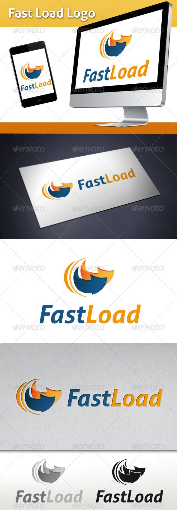 GraphicRiver Fast Load Hosting Logo 3537583