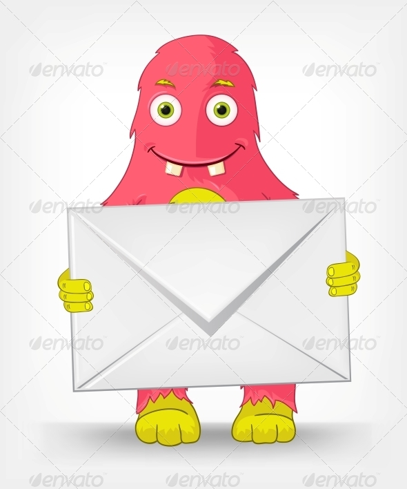 GraphicRiver Funny Monster Postman 3542402