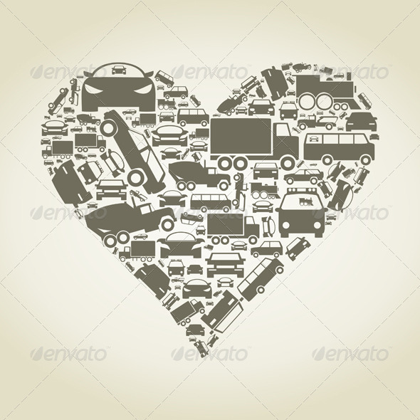 GraphicRiver Car Heart 3542703