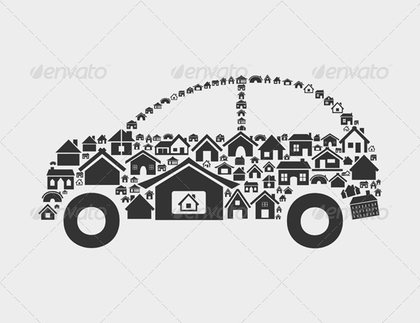 GraphicRiver Car of Houses 3542711