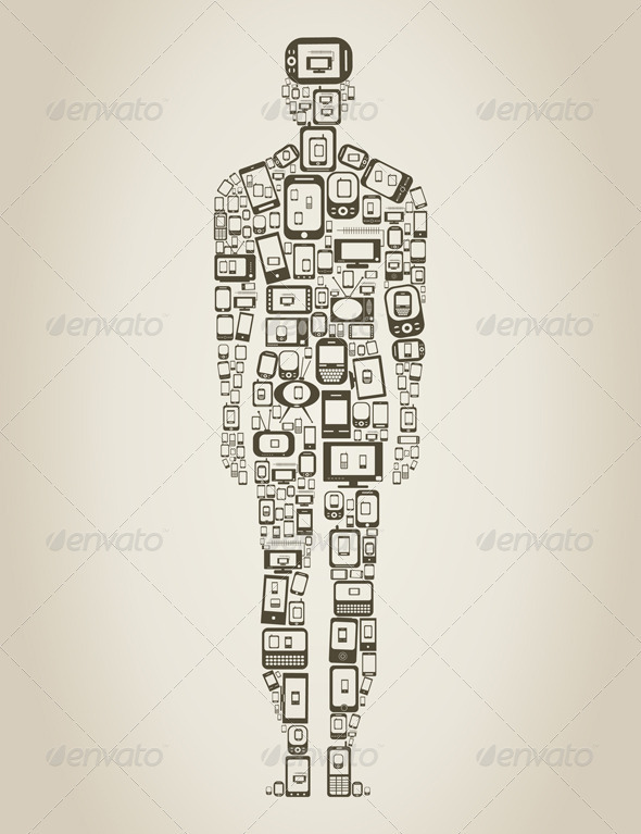 GraphicRiver Person made of Phones 3542766