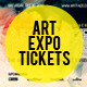 Art Expo Art Show Event Tickets & Passes Template