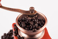 Coffee Beans in Grinder Closeup Top - PhotoDune Item for Sale