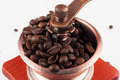 Coffee Beans in Grinder Closeup View - PhotoDune Item for Sale