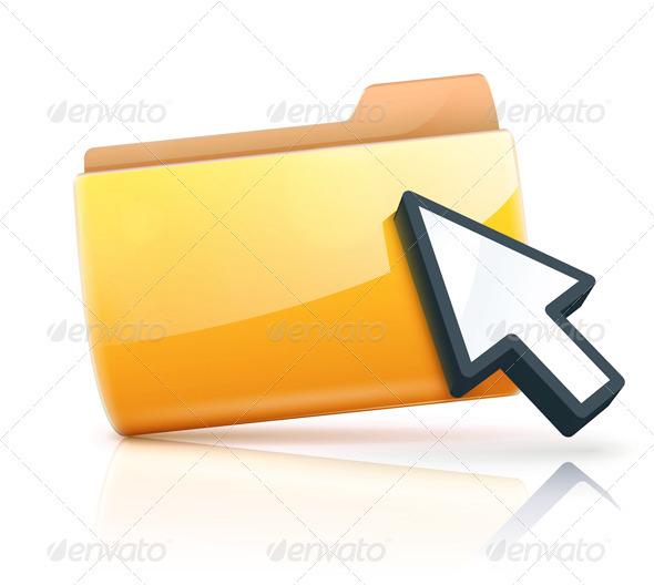 GraphicRiver Yellow Folder Icon 3543149