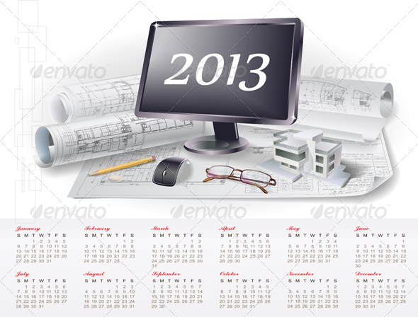 GraphicRiver 2013 Calendar Business Theme 3510925