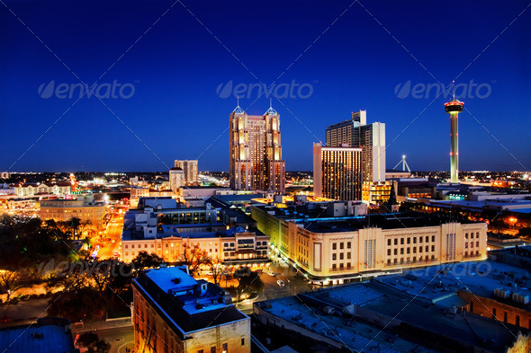 San Antonio skyline - Stock Photo - Images