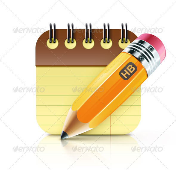 GraphicRiver Fat Yellow Pencil 3543753