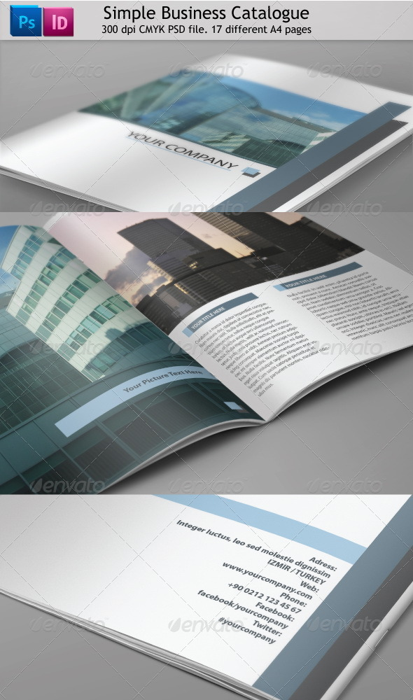 GraphicRiver 17 Page Clean Business Catalog 3265995