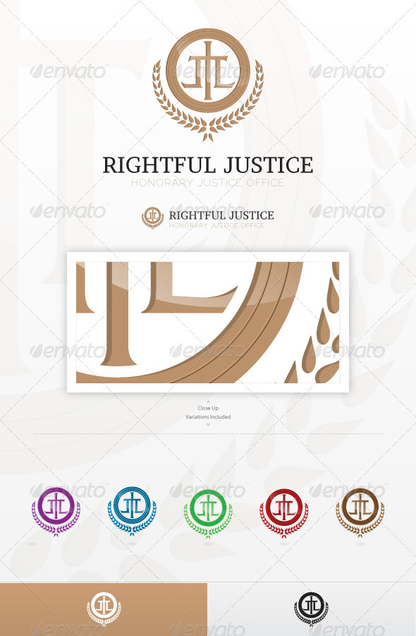 Rightful Justice Logo - Vector Abstract