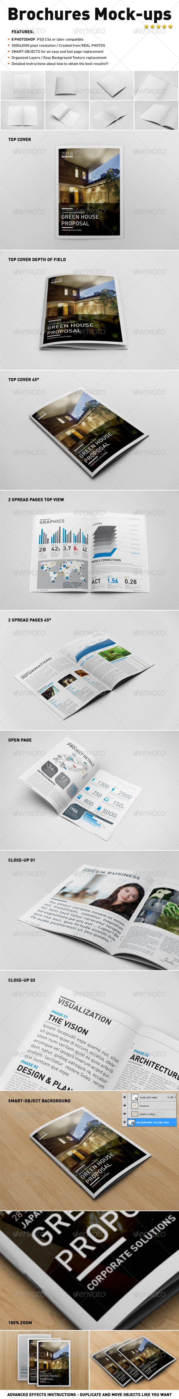 GraphicRiver Photorealistic Brochure Mock-ups 3544158