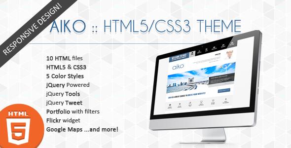ThemeForest Aiko Creative HTML5 CSS3 Theme 3011442