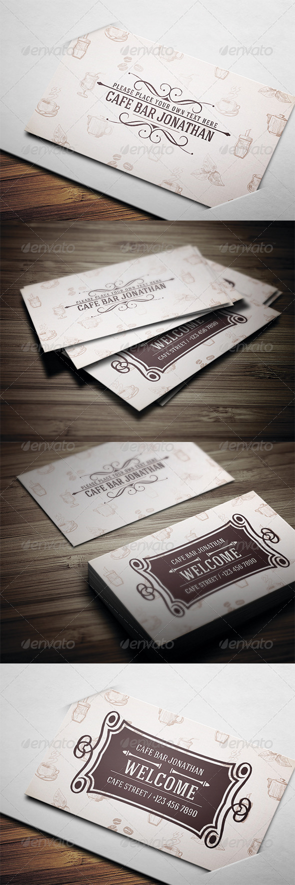 GraphicRiver Cafe Business Card 3544374