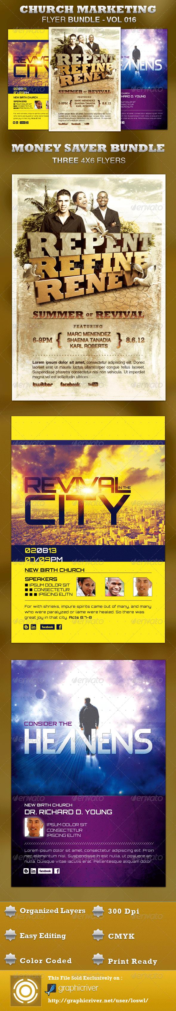 GraphicRiver Church Marketing Flyer Bundle-Vol 016 3544481