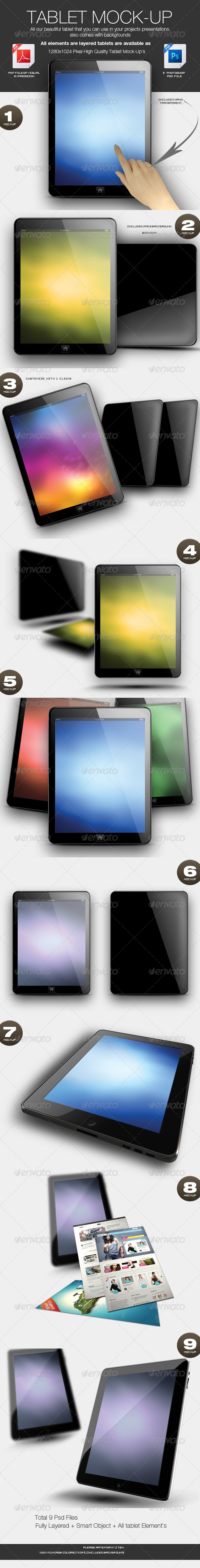 GraphicRiver Photorealistic Tablet Mock-up 3544628
