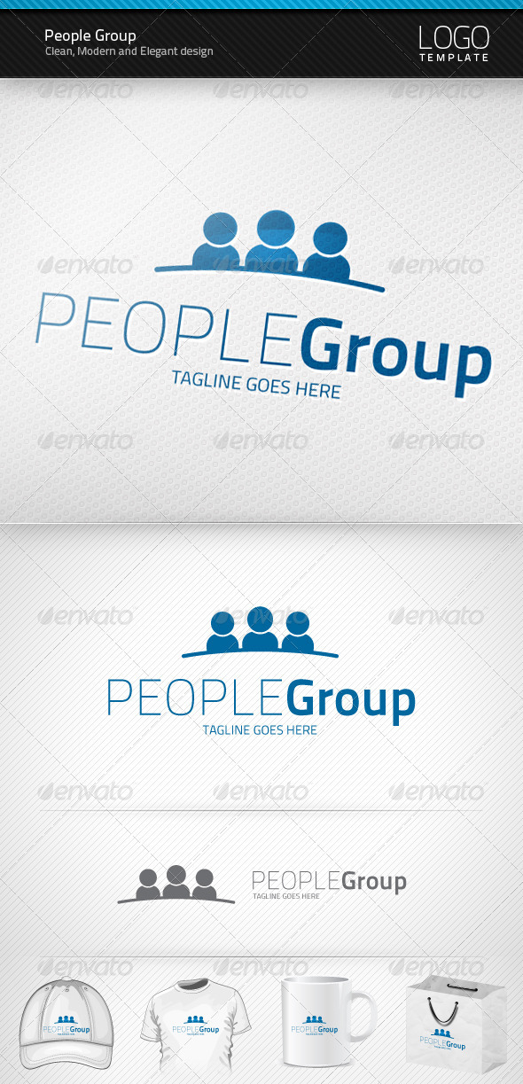 People Group Logo - Humans Logo Templates