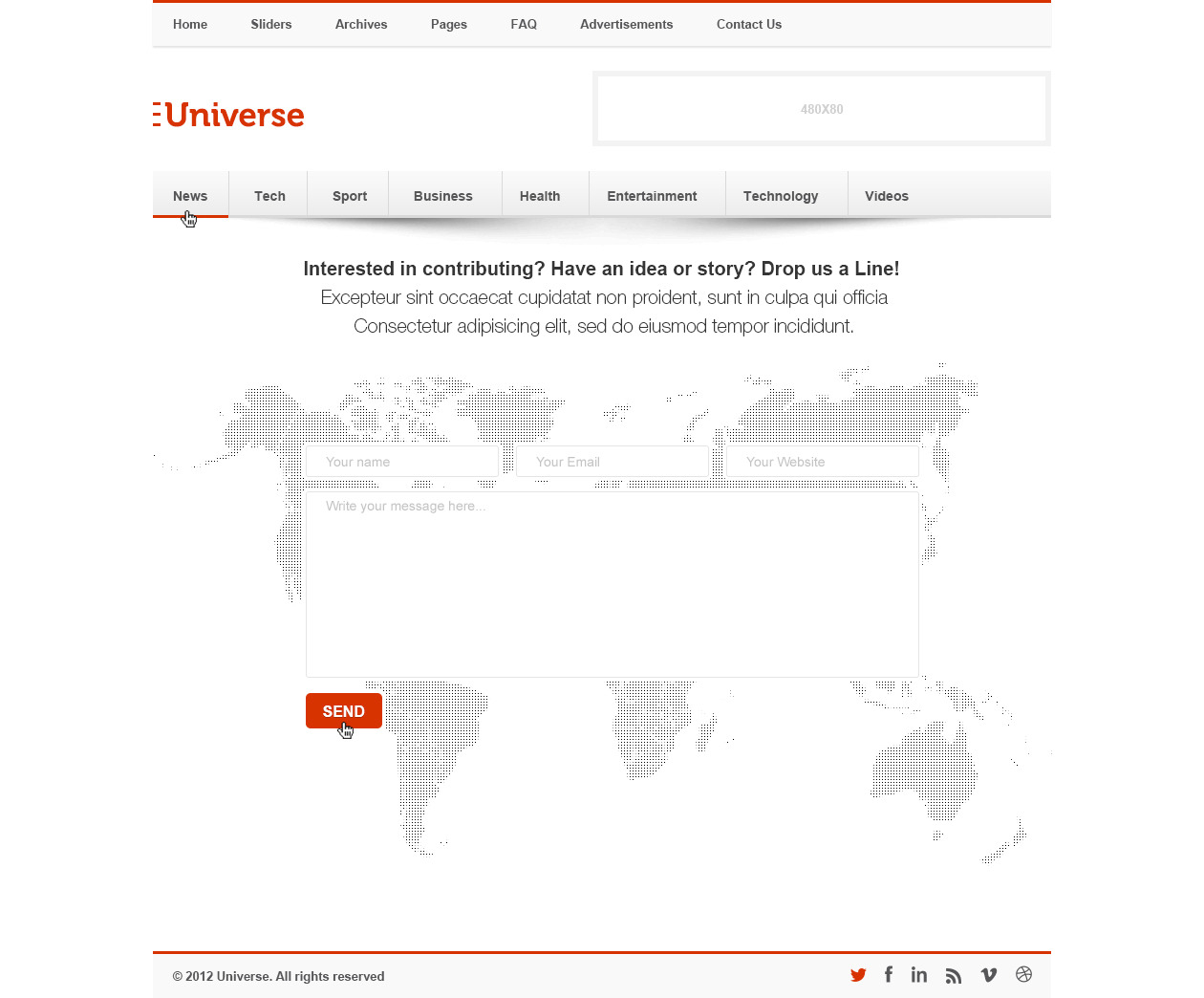 Universe - Premium News and Magazine PSD Template