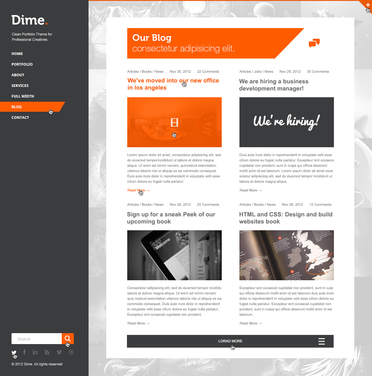 Dime - Agency / Business Portfolio PSD Template