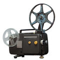 isolated: Vintage movie projector with clipping path - PhotoDune Item for Sale