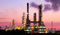 scenic of petrochemical oil refinery plant shines at night, clos - PhotoDune Item for Sale