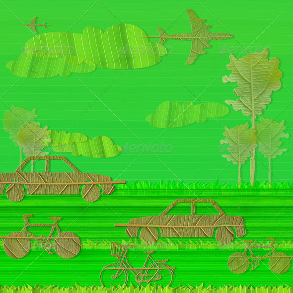 Eco green concept, cut off leave for save the world - Stock Photo - Images