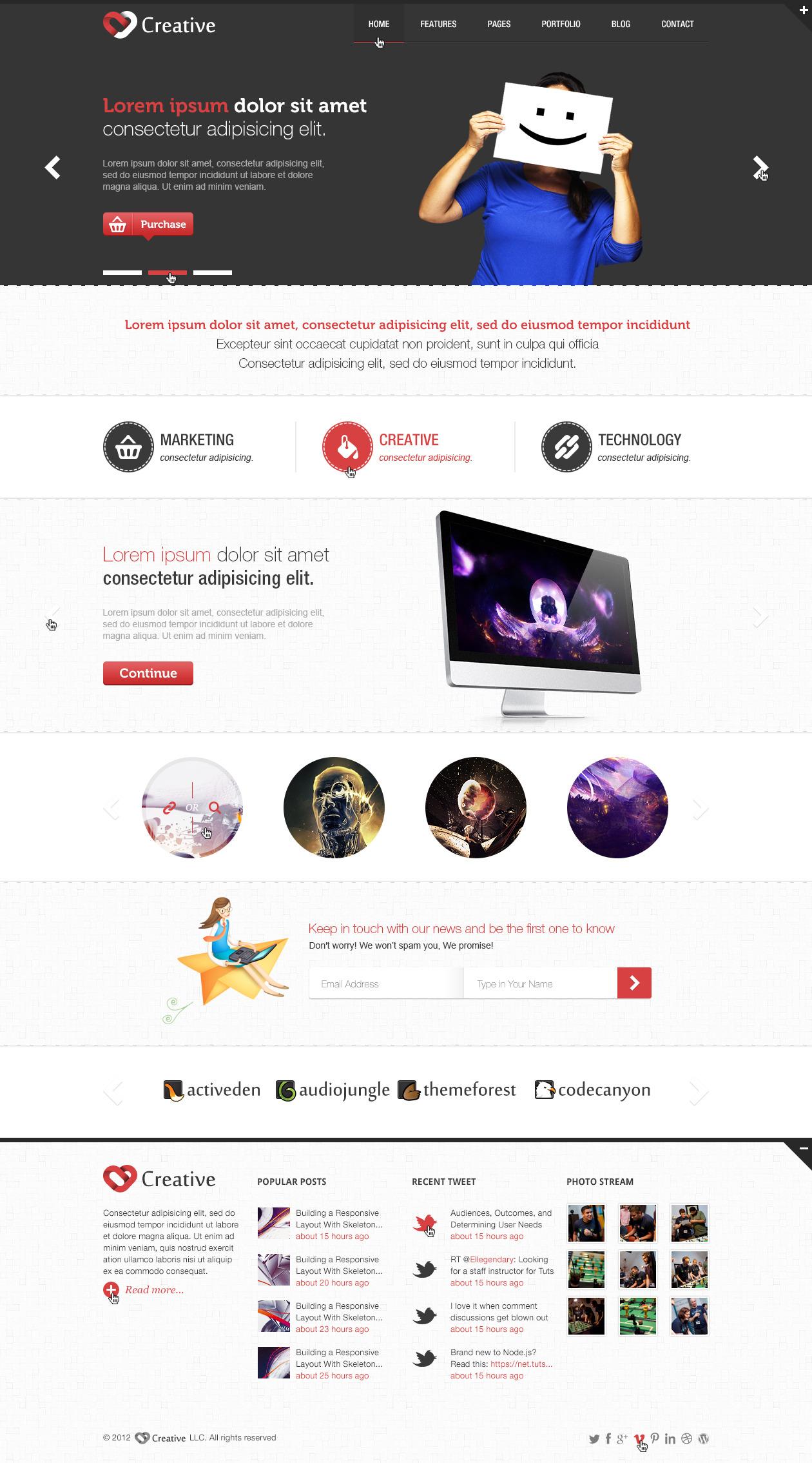Creative - Multi Purpose PSD Template