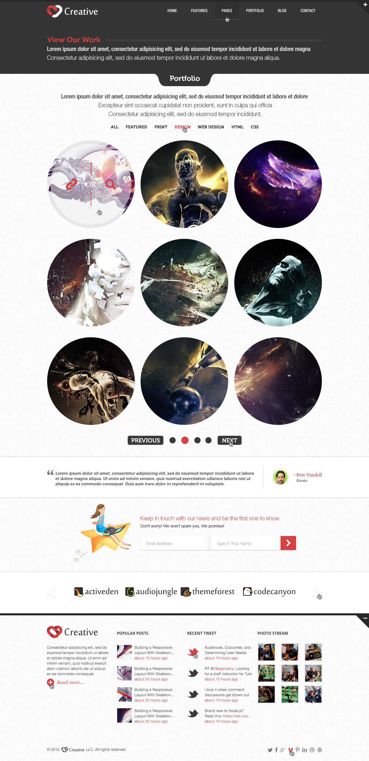 Creative - Multi Purpose PSD Template