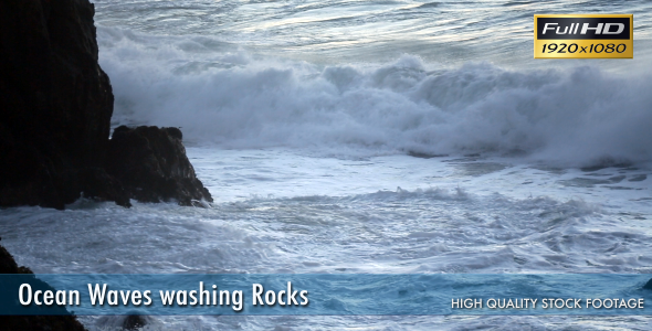 Ocean Waves Washing Rocks
