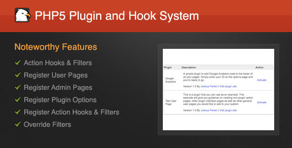 CodeCanyon PHP5 Plugin and Hook System 3495302